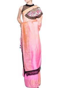 light-pink-peach-shaded-sari-with-applique