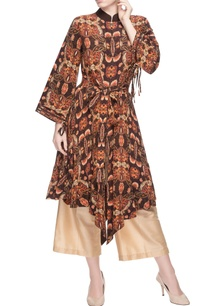 brown-printed-kurta-cream-culottes