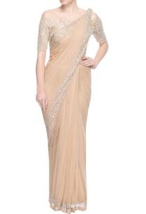 beige-sari-with-floral-motif