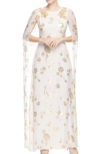 ivory-printed-gown-with-dramatic-sleeves