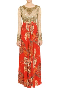 red-gold-embellished-gown