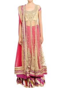 gold-fuschia-pink-embellished-lehenga-set