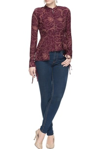 purple-printed-peplum-blouse
