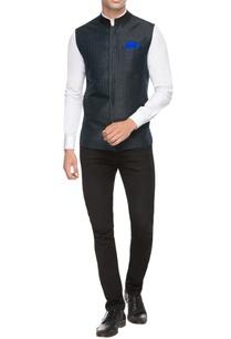 black-bandhi-jacket-with-kantha-embroidery
