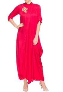 red-cowl-draped-maxi