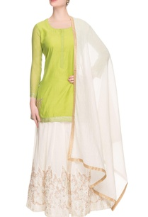 green-white-embellished-lehenga-set