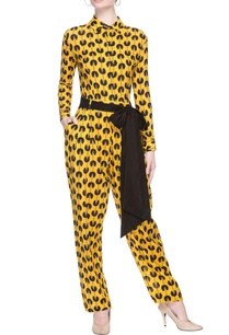 yellow-printed-jumpsuit
