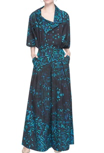 black-blue-pixel-printed-jumpsuit