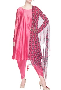 pink-kurta-set-with-dhoti-pants
