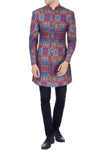 multi-colored-printed-sherwani