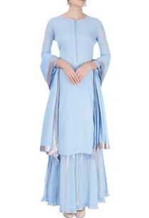 pastel-blue-sharara-set