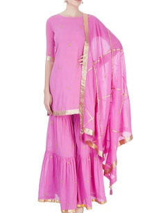candy-pink-short-kurti-with-sharara