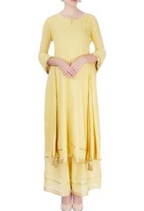 yellow-kurta-with-palazzo-dupatta