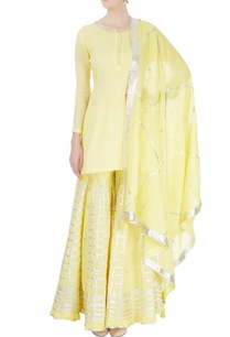 lemon-yellow-sharara-set
