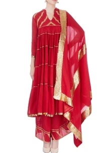 red-flared-kurta-with-palazzo