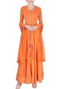 orange-embroidered-anarkali-set