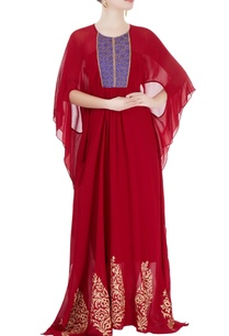 red-kaftan-style-dress-with-embellishments