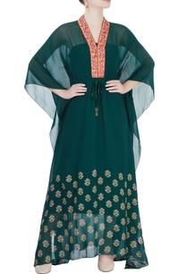emerald-green-kaftan-style-maxi