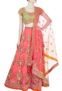 pink-green-sequin-embroidered-lehenga-set