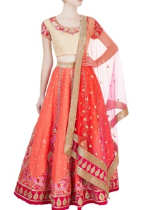 orange-beige-embroidered-lehenga-set