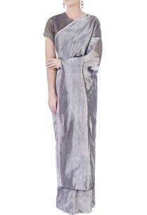 silver-grey-linen-sari