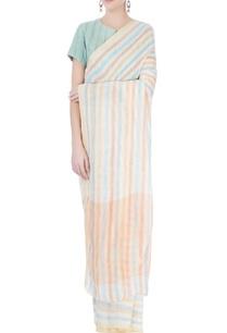 multi-colored-striped-sari