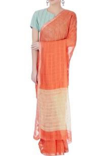 orange-line-sari