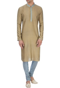olive-green-pin-tucked-kurta-set