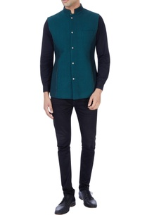 black-bottle-green-reversible-bandhi-jacket