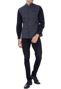 grey-bandh-jacket-with-blue-detailing