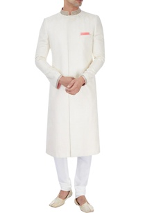 off-white-embroidered-sherwani-with-pink-highlights