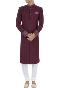 wine-embroidered-sherwani