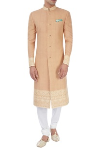 beige-embroidered-sherwani