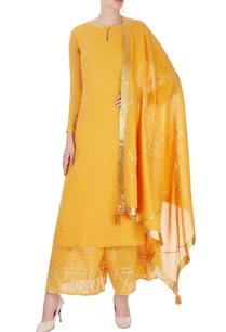 mustard-yellow-kurta-set-with-line-detailing