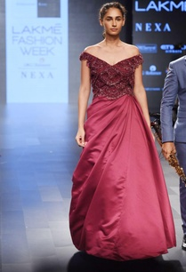 marsala-embroidered-sari-gown