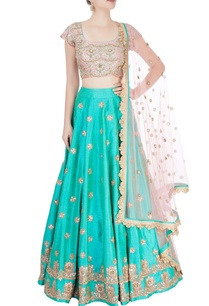 sea-green-pink-embroidered-lehenga-set