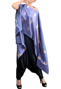 blue-checkered-kaftan-with-pants