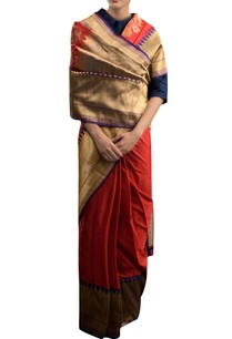 brick-red-silk-sari