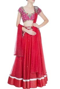 coral-red-embellished-lehenga-set