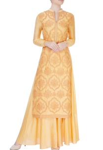 peach-kurta-set-with-dori-embroidery
