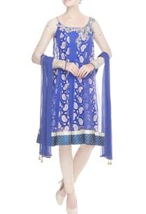 indigo-blue-sequin-kurta-set