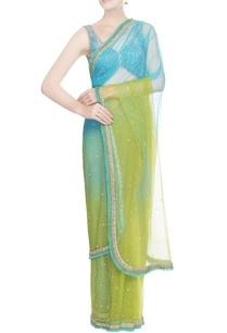 blue-green-sequin-sari