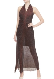 maroon-shimmery-halter-gown