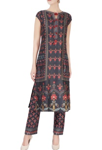 navy-blue-floral-printed-kurta-set