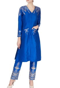 blue-silver-embroidered-kurta-set
