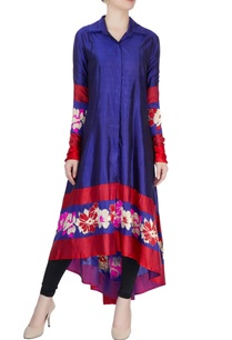royal-blue-floral-print-kurta