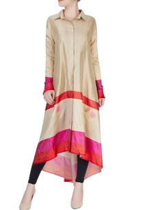 golden-beige-color-block-border-kurta