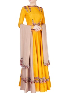 yellow-embroidered-anarkali