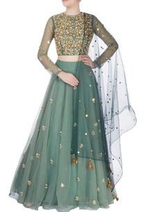 teal-green-embroidered-lehenga-set