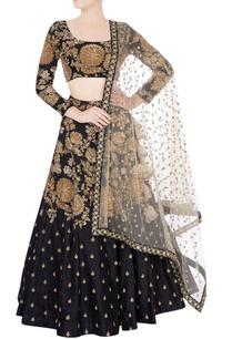 black-gold-embroidered-lehenga